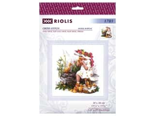 Riolis Cross Stitch Kit Girl With Ducklings