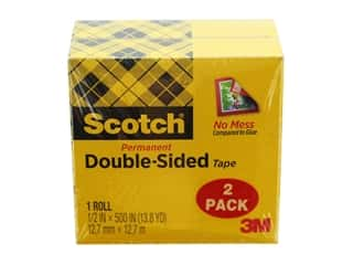 glues, adhesives & tapes: Scotch Double-Sided Permanent Tape - 1/2 x 500 in. Refill 2 pc.