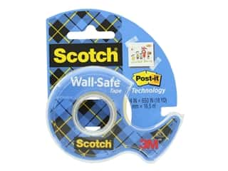 craft & hobbies: Scotch Wall-Safe Tape - 3/4 x 650 in.