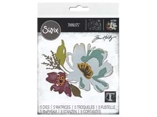 Sizzix Dies Tim Holtz Thinlits Brushstroke Flowers #3
