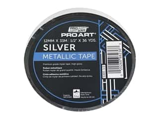 glues, adhesives & tapes: Pro Art Tape Metallic .5 in. x 36 yd Silver