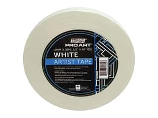 glues, adhesives & tapes: Pro Art Artist Tape - 1/2 in. x 60 yd. White