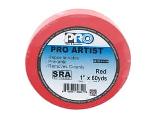 glues, adhesives & tapes: Pro Tape Artist 1 in. x 60 yd Red