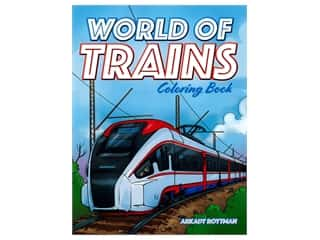 Dover Publications World Of Trains Coloring Book
