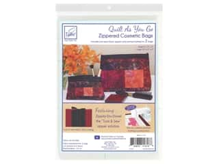 June Tailor Quilt As You Go Zippered Cosmetic Bag: June Tailor Kit Zippity Do Done Cosmetic Bag With Black Zip