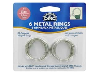 DMC Metal Craft Rings 1 in. 6 pc