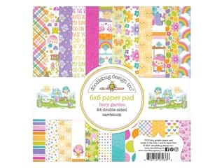 Doodlebug Collection Fairy Garden Paper Pad 6 in. x 6 in.