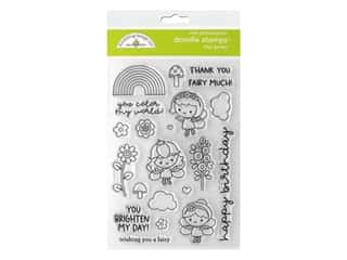Doodlebug Collection Fairy Garden Doodle Stamps Fairy Garden