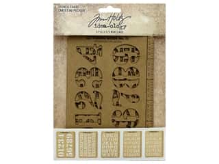 Tim Holtz Idea-ology Stencil Cards (2 sets)