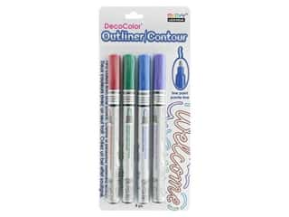 craft & hobbies: Uchida DecoColor Fine Marker Carded Outliner/Contour 4 pc