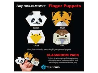 patterned paper : Yasutomo Origami Paper Finger Puppets Classroom Pack