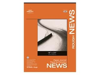 Pro Art Newsprint Paper Pad Rough 18 in. x 24 in. 32 lb 50 pc