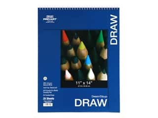 Pro Art Drawing Paper Pad 11 in. x 14 in. 80 lb Wire Bound 25 pc