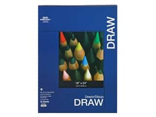 craft & hobbies: Pro Art Drawing Paper Pad 18 in. x 24 in. 80 lb Wire Bound 25 pc