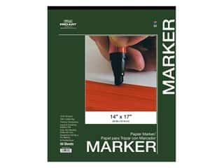 craft & hobbies: Pro Art Drawing Paper Marker Pad 14 in. x 17 in.  50 pc