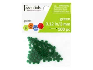 Essentials By Leisure Arts 1/8 in. Pom Poms - Green 100 pc.