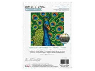 Dimensions Needlepoint Kit 5 x 5 in. Colorful Peacock