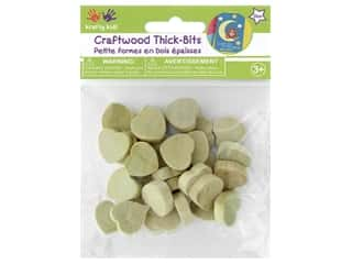 Multicraft Krafty Kids Thick-Bits Hearts Natural 30 pc