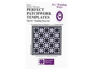 Marti Michell Perfect Patchwork Templates - 8 1/2 in. Winding Ways Set