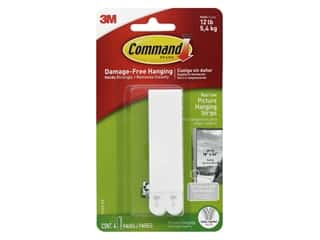 glues, adhesives & tapes: Command Adhesive Picture Hanger Strips Narrow 4 pc