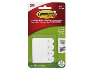 glues, adhesives & tapes: Command Adhesive Picture Hanger Strips Small 4 pc