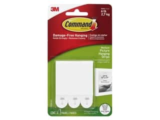 glues, adhesives & tapes: Command Adhesive Picture Hanger Strips Medium 3 pc