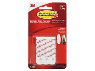 glues, adhesives & tapes: Command Adhesive Replacement Strips Refill Strips Medium 3 lb