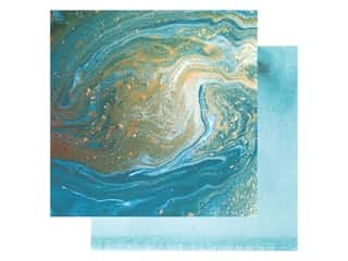 Paper House Paper 12 in. x 12 in. Teal Marble (15 pieces)