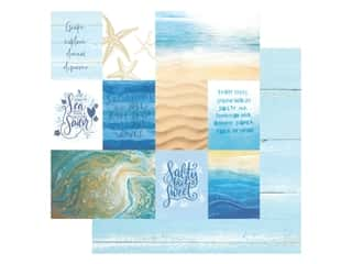 Paper House Paper 12 in. x 12 in. Coastal Waves Tags (15 pieces)