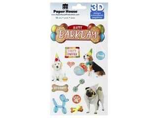 Paper House Sticker 3D Happy Barkday