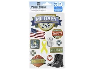 Paper House 3D Stickers - Military Life