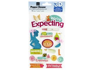 Paper House Sticker 3D We're Expecting
