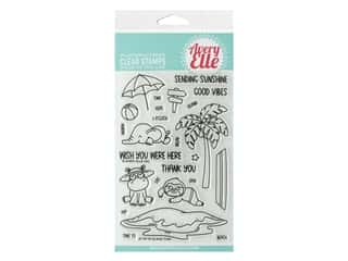 Avery Elle Clear Stamp Island Time
