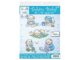 Tobin Kit Stamped Baby Quilt 34 in. x 43 in. Baby Bears