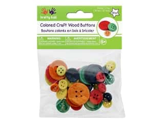 Multicraft Krafty Kids Craftwood Button Color 40 pc