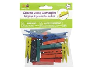 Craft Medley Mini Clothespin 1 x 7/8 in. Colored 24 pc.