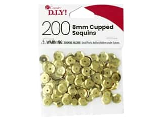 Cousin DIY Sequins Cupped 8 mm Gold 200 pc
