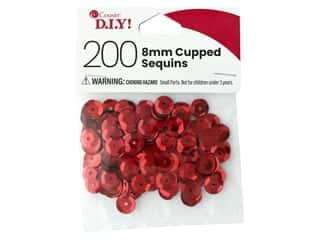 Cousin DIY Sequins Cupped 8 mm Red 200 pc