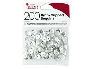 Cousin DIY Sequins Cupped 8 mm Silver 200 pc
