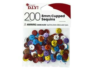 Cousin DIY Sequins Cupped 8 mm Multi 200 pc