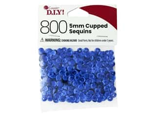 Cousin DIY Sequins Cupped 5 mm Blue 800 pc