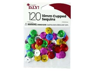Cousin DIY Sequins Cupped 10 mm Multi 120 pc