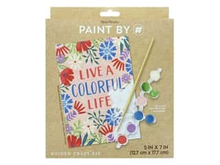 craft & hobbies: Paint Works Paint By Number Kit Live A Colorful Life