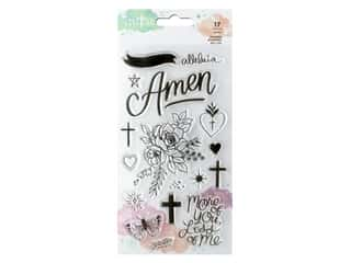 American Crafts Creative Devotion Draw Near Clear Stamps 17 pc