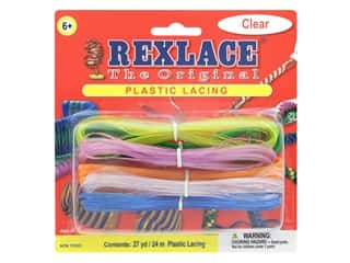 Pepperell Rexlace Craft Lace 27 yd. Cool Combo Clear