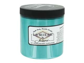 craft & hobbies: Jacquard Lumiere Paint - Pearlescent Turquoise 8 oz.