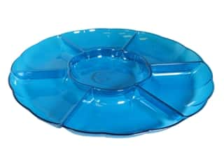 """Amscan Tableware Compartment Tray 16"""" Chip And Dip Caribbean"""