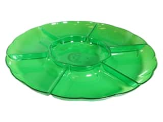 """Amscan Tableware Compartment Tray 16"""" Chip And Dip Kiwi"""