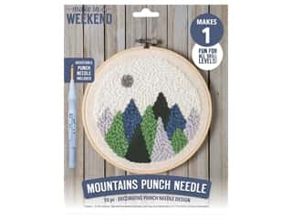 Leisure Arts Make In A Weekend Punch Needle Kit - Mountains