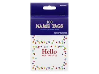 craft & hobbies: Amscan Name Tag Hello My Name Is Confetti 100 pc